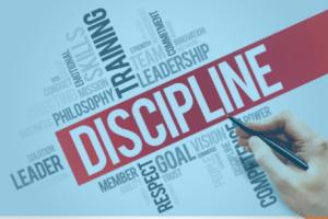 Discipline, discipline en nog eens discipline