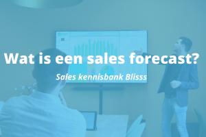 Wat is een sales forecast?