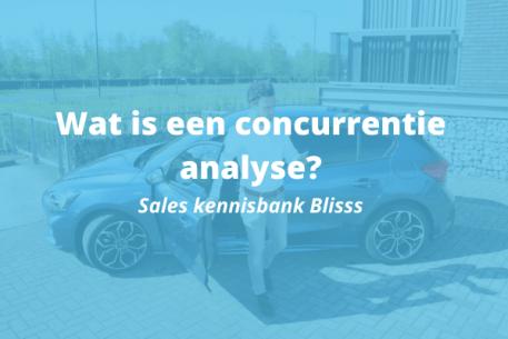 Wat is een concurrentie analyse